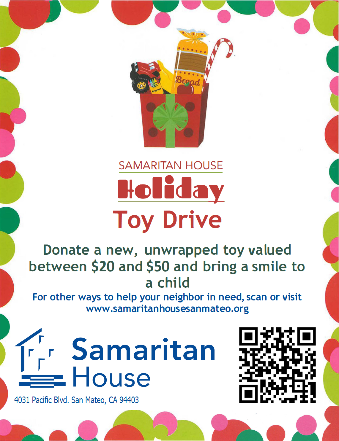 Holiday Children's Toy and Coat Drives - Samaritan House